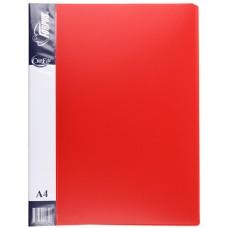 Папка с прижимом А4 красная FO21744