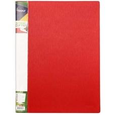 Папка с пружинным механизмом А4 красная FO21953