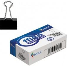 Зажим для бумаг 15 мм черный FO61600