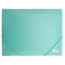 Папка с резинкой А4 зеленая пластик FO21443