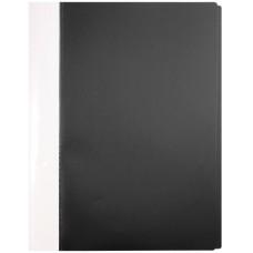 Папка пластиковая с прижимом А4 черная EC02171