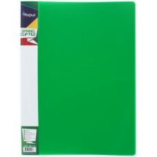 Папка с пружинным механизмом А4 зеленая FO21903