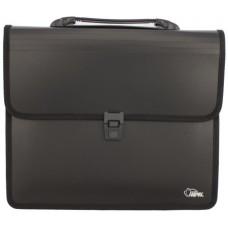 Папка-портфель А4 черная FO21630