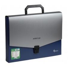 Папка-портфель А4 синяя FO21652
