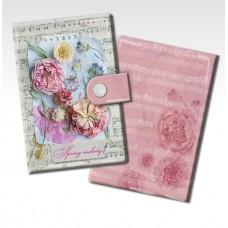 Визитница Ноты и цветы из ПВХ арт.44870(14*10.2см 10 карманов) арт.44870