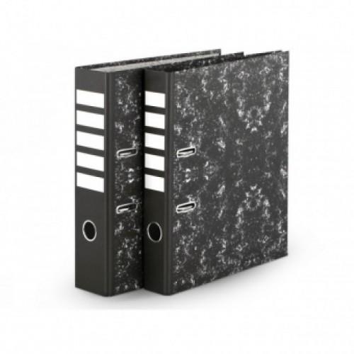 Папка-регистратор А4 50 мм мраморно-черая EC02022