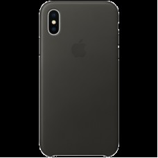 Чехол для iPhone X Leather Case - Charcoal Gray