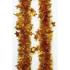 Новогодняя мишура арт.34870 (золото, 6*200 см, из ПЭТ) арт.34870