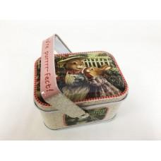 Коробка для безделушек и мелочей Мамин день арт. 43694 (10,5х8х6см из черного окрашенного металла) /
