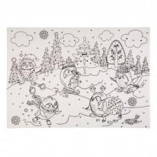 Настольный защитный коврик-раскраска Веселые катания арт.78055