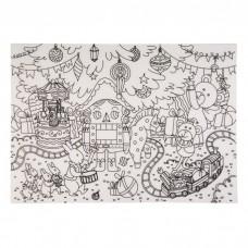 Настольный защитный коврик-раскраска Щелкунчик из полипропилена арт.78053