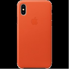 Чехол для iPhone X Leather Case - Bright Orange