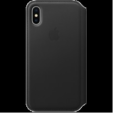 Чехол-книжка Apple Leather Folio для IPhone X Black / MQRV2ZM/A