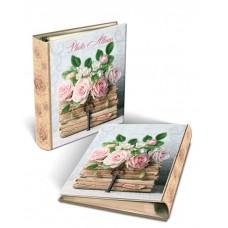 Фотоальбом Книги и розы  с обложкой из картона/23,5*28,5 арт.44863