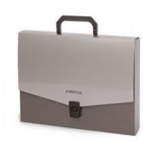 Папка-портфель А4 серебро FO21651