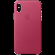 Чехол для iPhone X Leather Case - Pink Fuchsia