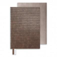 Бизнес-блокнот арт.47673 АНАКОНДА серо-коричневый (А5, 146x211, 192 стр.)