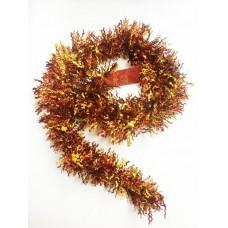 Новогодняя мишура арт.34873 (оранжевый микс, 9*200 см, из ПЭТ) арт.34873