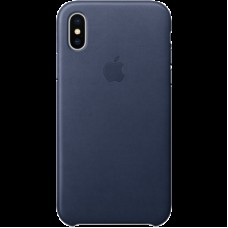 Чехол для iPhone X Leather Case - Midnight Blue