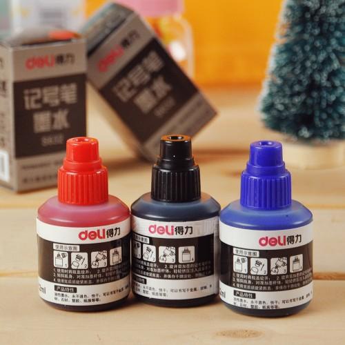 Чернила для заправки маркеров перманентных Deli 632S 20 мл синий