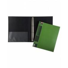 Папка Пластиковая Hatber на 4-х кольцах А4ф корешок 25 мм WOOD 700мкм- Зеленая 4AB4 02207