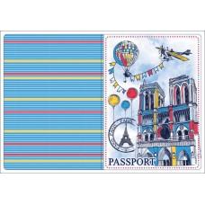 Обложка для паспорта Нотр-Дам арт.44519 (13,3х19,1см, из ПВХ) арт.44519