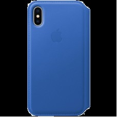 Чехол для iPhone X Leather Folio - Electric Blue
