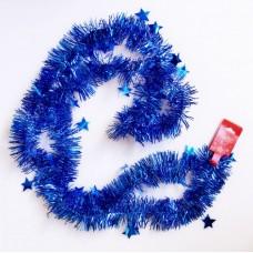 Новогодняя мишура арт.34901 (синий, 6*200 см, из ПЭТ) арт.34901