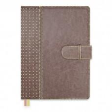 Ежедневник-органайзер полудатированный А5+, 192л арт.47534 серо-коричневый