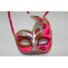 """Карнавальная маска """"Жарптица розовая"""" из пластика (ПВХ) арт.75232"""