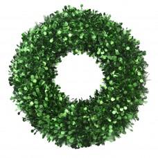 Новогодний венок Большой с зелёными кругами из полиэтилена / 46см арт.78836