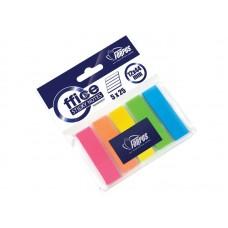 Пластиковые индексы 12-44 мм 5*25шт прозрачные FO42028