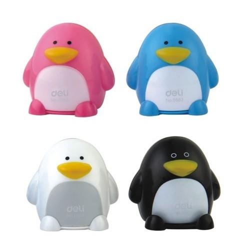 """Точилка двойная с контейнером """"Пингвин"""" DELI Е0563"""