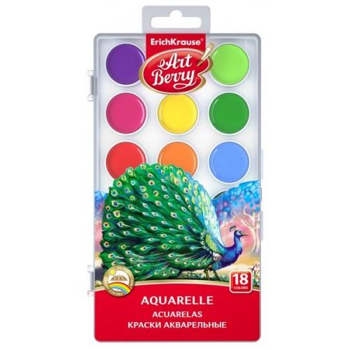 Акварель медовая 18 цветов Artberry с УФ защитой яркости арт.41725