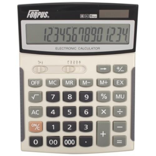 Калькулятор настольный, 16-р., 2-е питание, арт. FO11009