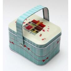 """Коробка для безделушек и мелочей """"Подарки"""" арт.37449  (10,5*8*6см, из черного окрашенного металла) /"""