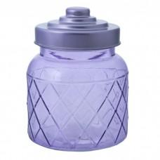 Емкость для сыпучих продуктов из стекла, с  крышкой (объем 0,600 литра) / 10.7x10.7x14 арт.76387