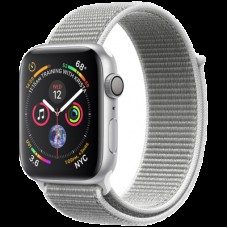 Умные часы Apple Watch Series 4 GPS, 44mm Silver Aluminium Case with Seashell Sport Loop, Model A1978