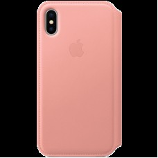 Чехол для iPhone X Leather Folio - Soft Pink