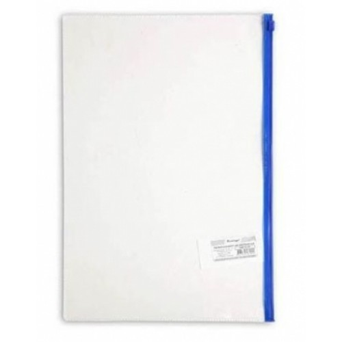 Папка-конверт Пластиковая на молнии А4ф Berlingo 110мкм Прозрачная 235х330мм