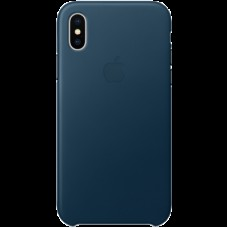 Чехол для iPhone X Leather Case - Cosmos Blue