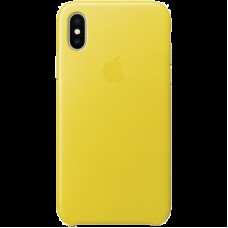 Чехол для iPhone X Leather Case - Spring Yellow