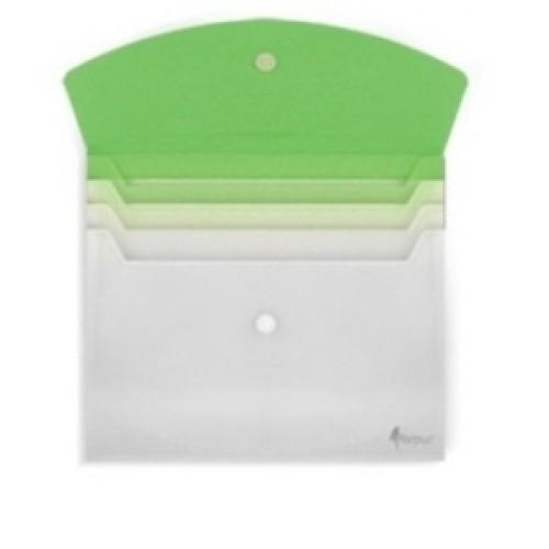 Папка с расширением белая/зеленая FO21671