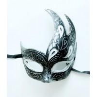 Карнавальная маска Жарптица черная из пластика арт.75231
