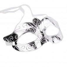 Маскарадная маска Серебро из пластика арт.78201