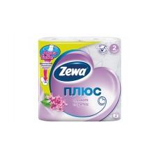 """Бумага туалетная """"ZewaПлюс"""" с цветным рисунком и нежным ароматом сирени, двухслойная, 4рул/уп."""