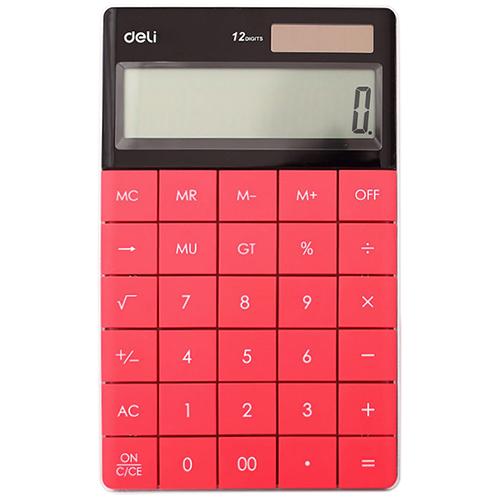 Калькулятор 12 разрядов, красный арт. 1589 (Deli)