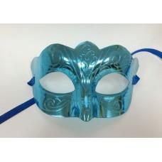 "Карнавальная маска ""Блестящая бирюза"" из пластика (ПВХ) арт.75237"