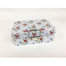 Коробка для безделушек и мелочей Море роз арт.43721 (12,5х9х4см, из черного окрашенного металла, со