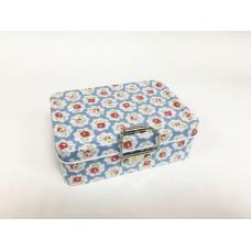 Коробка для безделушек и мелочей Небесные кружева арт.43719 (12,5х9х4см, из черного окрашенного мета